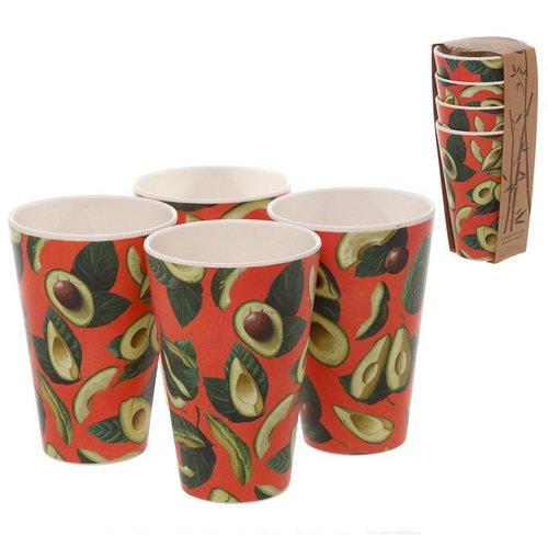 Bambootique Herbruikbare bekers van Bamboe - Set van 4