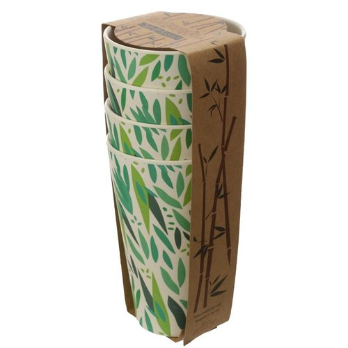 Bambootique Bamboe bekers - Set van 4