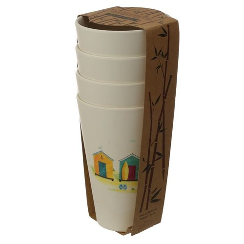 Bambootique Bamboo Reusable Cups - Set of 4