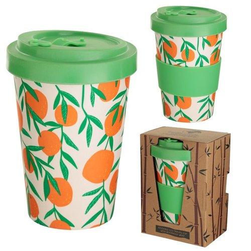 Bambootique Herbruikbare Reismok van bamboe. Voorzien van draaideksel