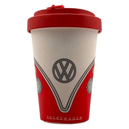 Volkswagen Bamboe Composiet Volkswagen Kampeerbus VW T1 Drinkbeker met Schroefdeksel