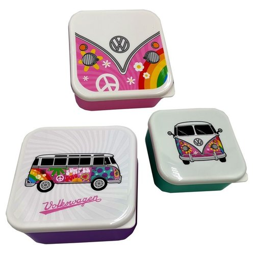 Volkswagen VW T1 Lunchboxes - Set of 3
