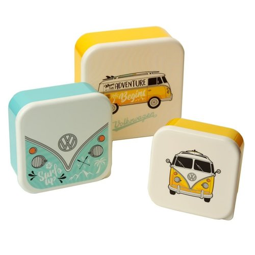 Volkswagen Set 3 lunchtrommels - Summer Love Volkswagen kampeerbus VW T1 M/L/XL