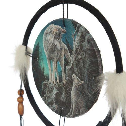 Lisa Parker Lisa Parker Dromenvanger Spirit Wolf - 16cm doorsnee