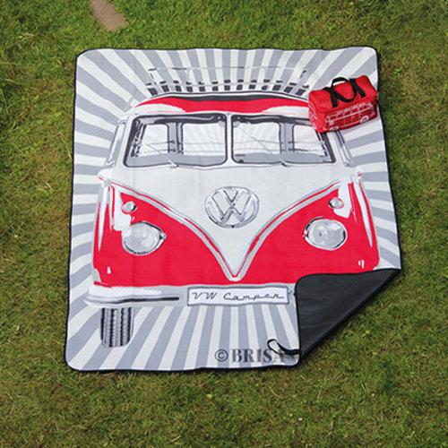 Volkswagen VW T1 Picknickkleed met draagtas - Samba strepen