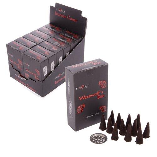 Stamford Black Wierook Kegeltjes, 12 kegeltjes per individuele verpakking