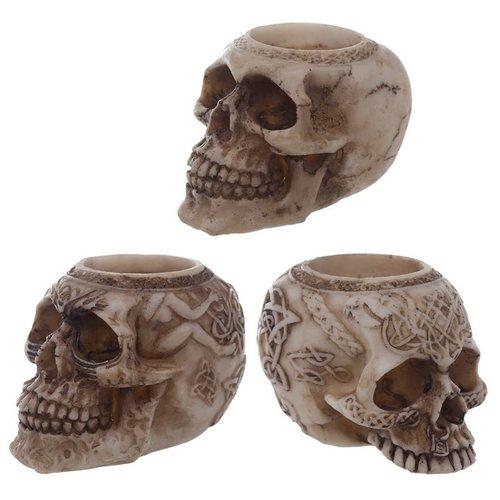 Novus Fumus Theelicht houder in schedel