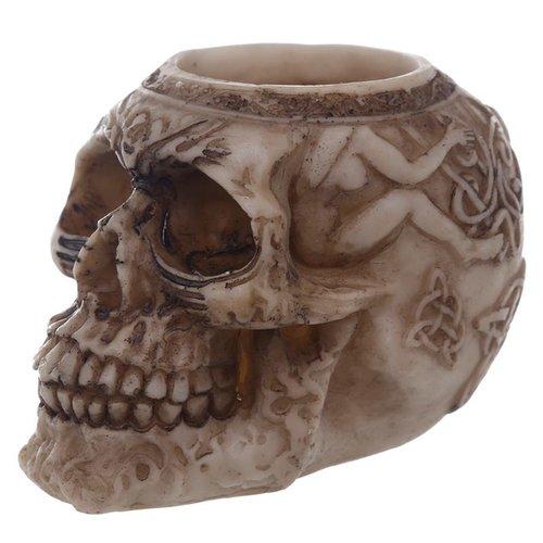 Novus Fumus Set van 3 theelicht houders in schedel vorm