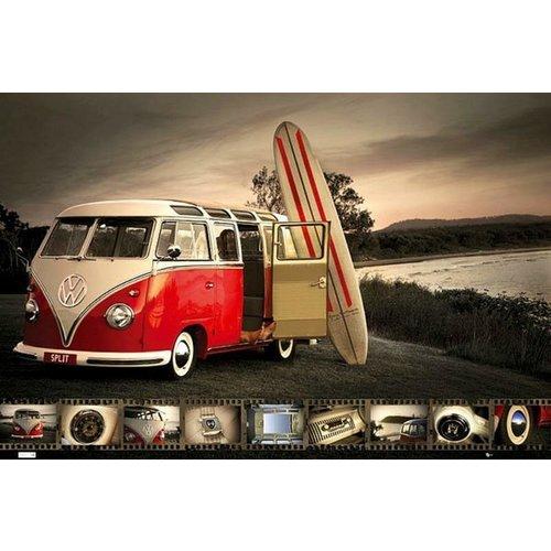 Volkswagen VW T1 Samba Poster