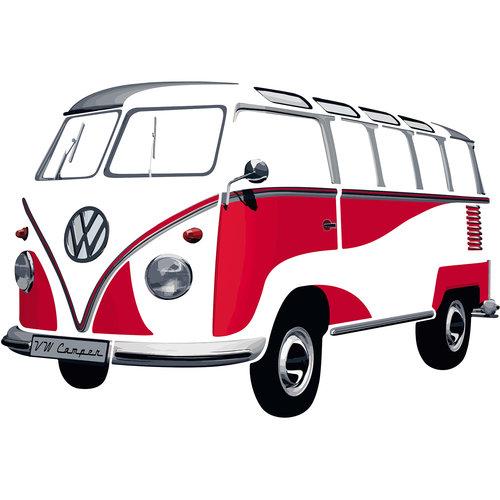 Volkswagen Volkswagen T1 Samba muurtattoo / muurstikker