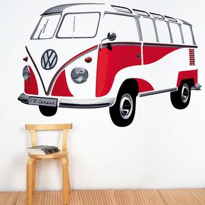 Volkswagen VW-T1 Samba Muurtattoo