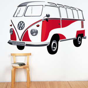 Volkswagen VW-T1 Samba Wandtattoo