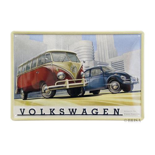 Volkswagen Volkswagen Samba metalen wandborden