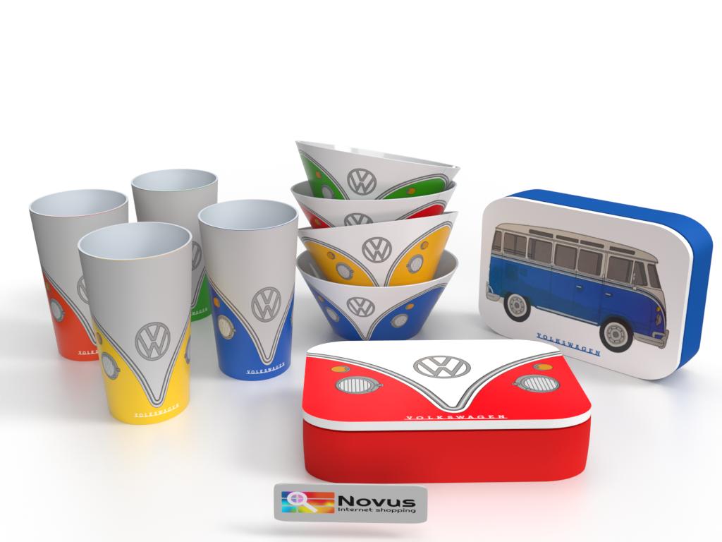 Volkswagen Lunch set - 4 bekers, 4 kommen, 2 lunchtrommels - Bamboe