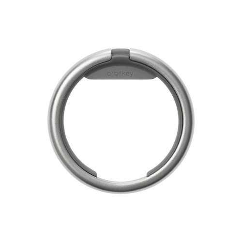 Orbitkey Keychain ring - Silver / Charcoal