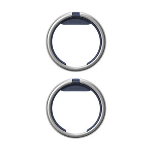 Orbitkey Keychain ring - Twin Pack (Silver) – Navy