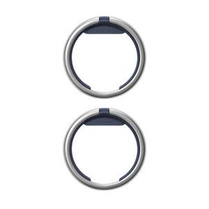Orbitkey Keychain ring - Twin Pack (Silver) – Navy