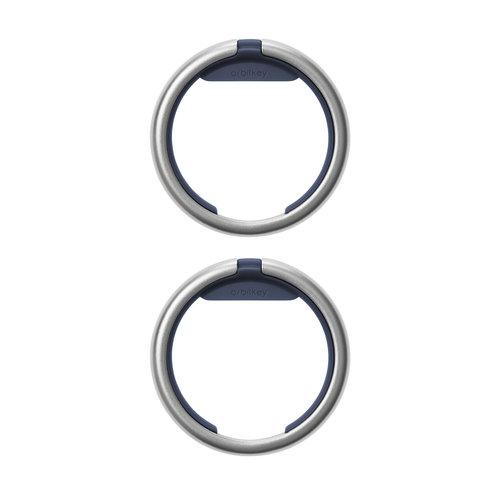Orbitkey Sleutelhanger ring - Twin Pack (Silver) – Navy