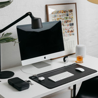 Clean Desk! Tips for a productive home office.