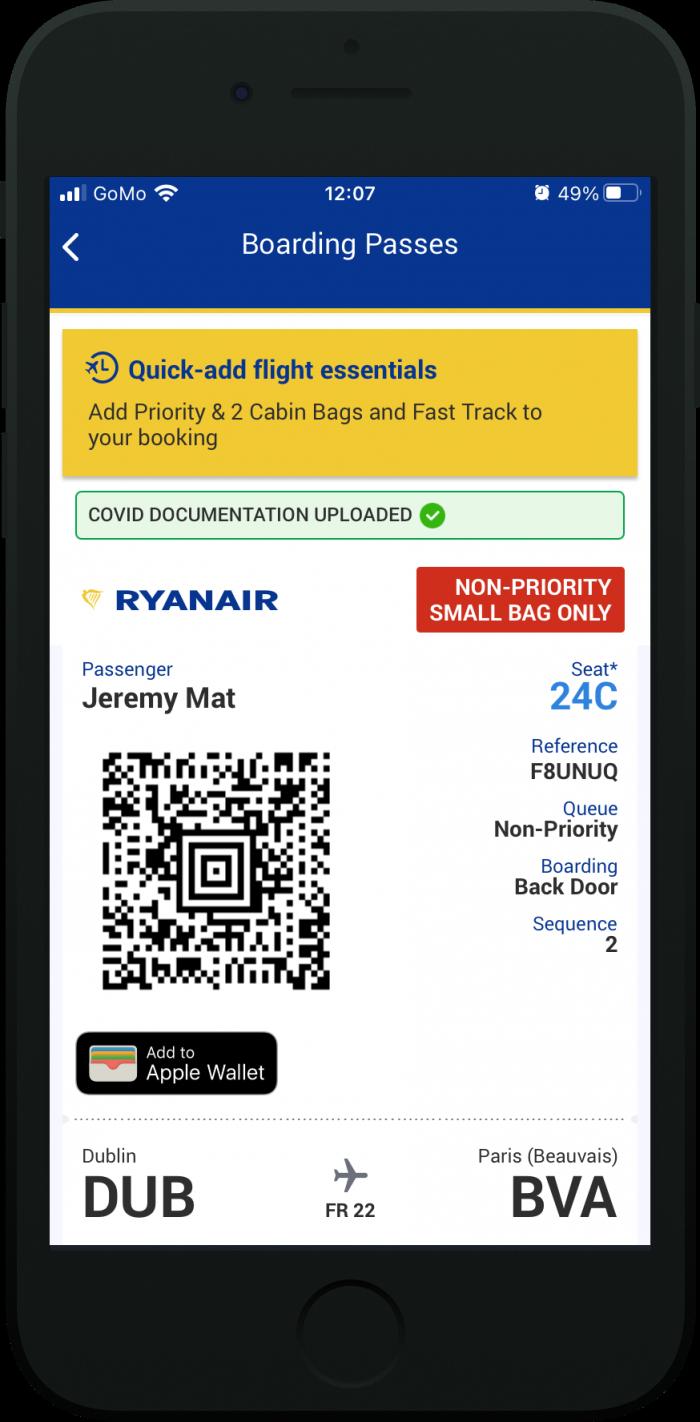 Ryanair C-19 Wallet