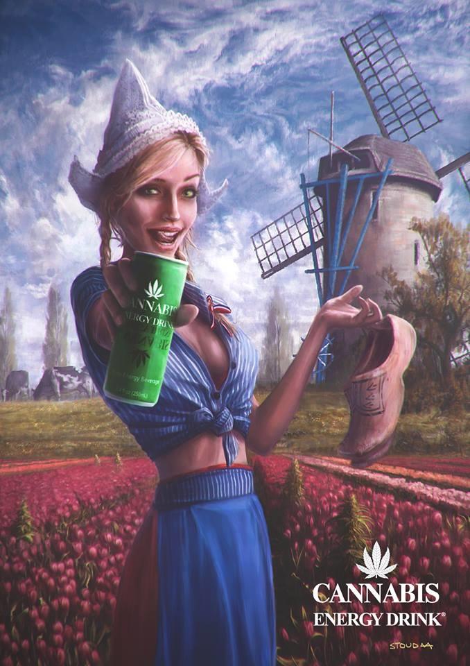 Cannabis Energy Drink molen poster