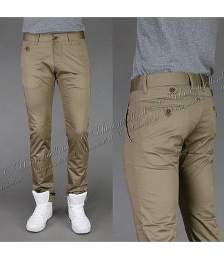 !OP=OP Trendy Broek met Knoopjes Khaki