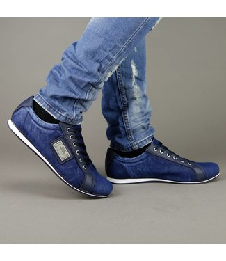 !SALE Navy Blue Jeans Heren Sneakers