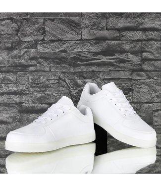 !SALE70 Witte Lichtgevende LED Heren Sneakers