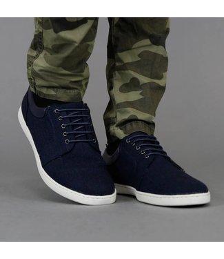 Trendy Jeans Sneakers met Witte Zool