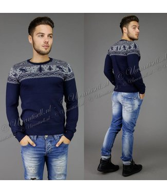 !SALE70 Navy Noorse Heren Trui