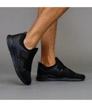 Trendy Zwarte Neopreen Instap Sneakers