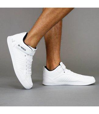 Hoge Witte Lederlook Sneakers met Band