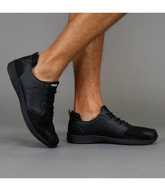 !OP=OP Trendy Zwarte Sneakers met Gevlochten Patroon
