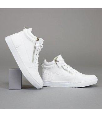 !OP=OP Trendy Hoge Witte Heren Sneakers met Ritsen