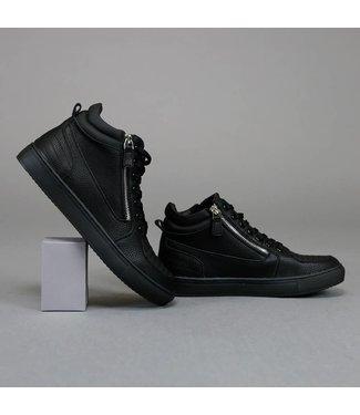 !OP=OP Trendy Hoge Zwarte Sneakers met Ritsen