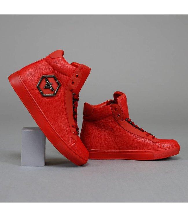 Basic Hoge Rode Sneakers met Embleem