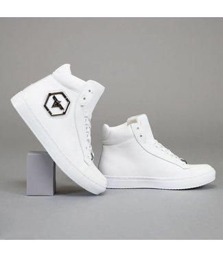 !OP=OP Basic Hoge Witte Heren Sneakers met Embleem