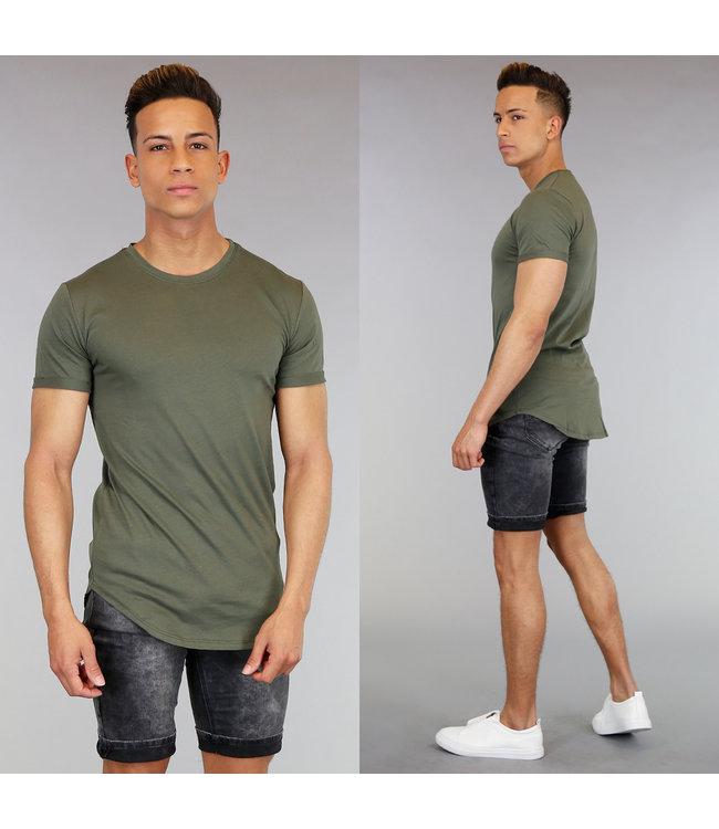 Casual Groen Heren Shirt met Korte Mouwen