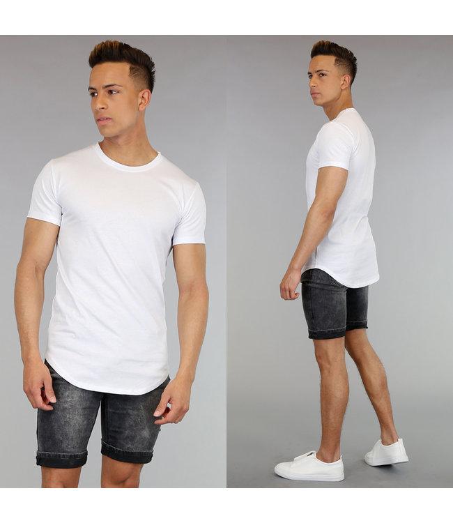 Casual Wit Shirt met Korte Mouwen