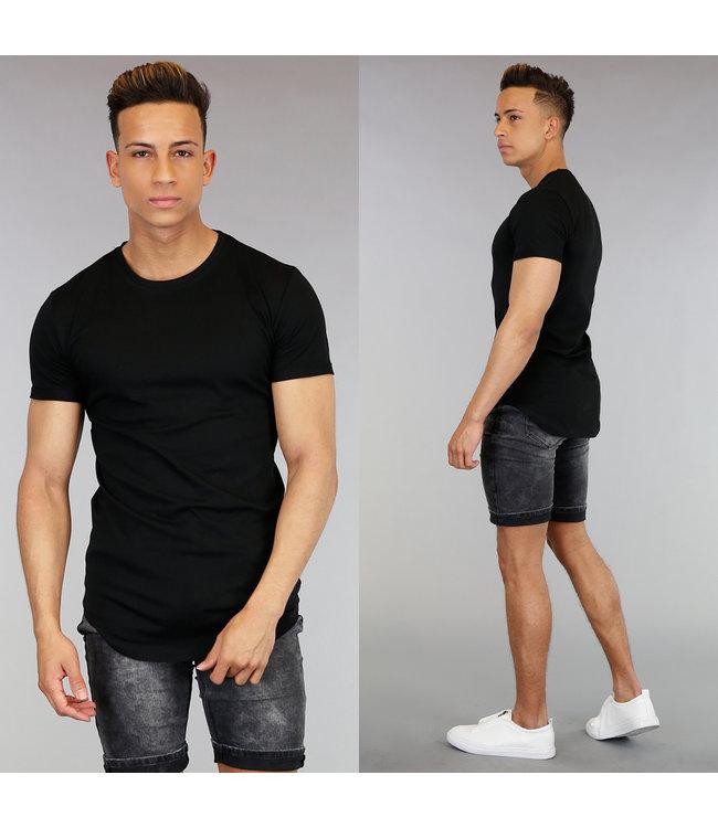 Casual Zwart Shirt met Korte Mouwen