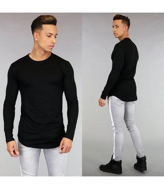 Casual Zwart Heren Shirt met Lange Mouwen