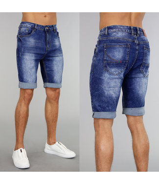 !OP=OP Denim Heren Short met Wassing en Krassen