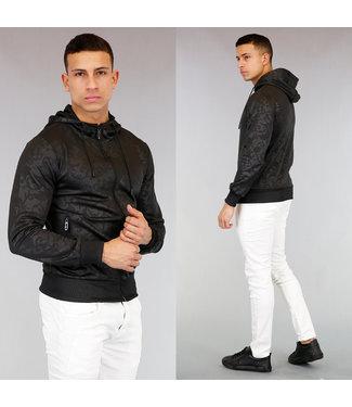 !OP=OP Zwart Heren Vest met Barok Print