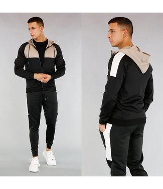 !OP=OP Zwart Streetwear Heren Trainingspak