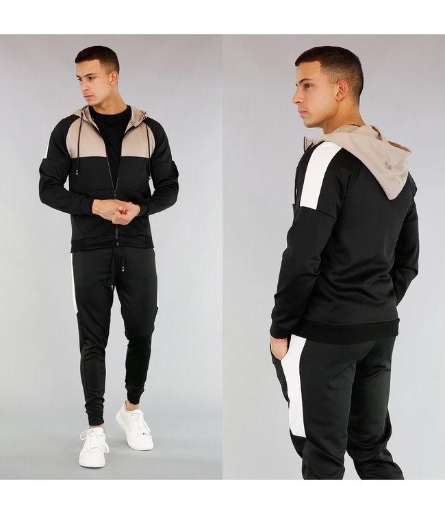 Zwart Streetwear Heren Trainingspak