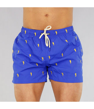 !OP=OP Blauwe Heren Zwembroek met Zeepaardjes