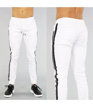 NEW! Witte Sweat Denim Heren Jeans