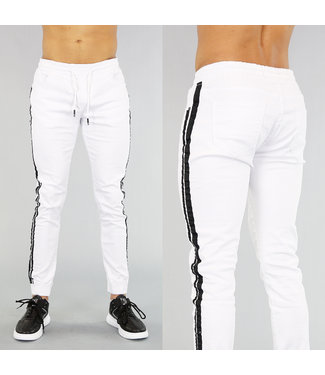 Witte Sweat Denim Heren Jeans