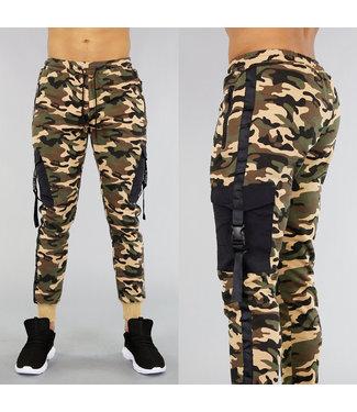 NEW! Camouflage Heren Joggingbroek met Zakken