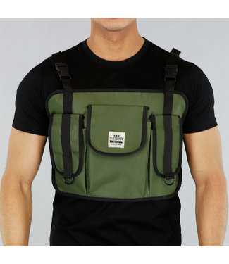 NEW! Groene Heren Multipocket Tas